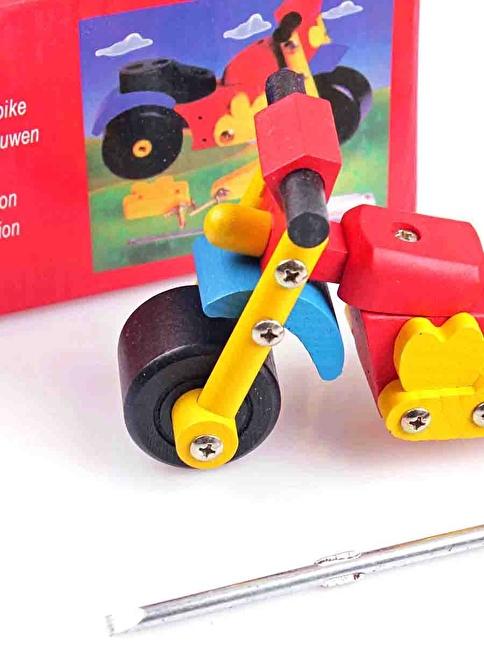 Wooden Toys Wooden Construction Motorbike Renkli